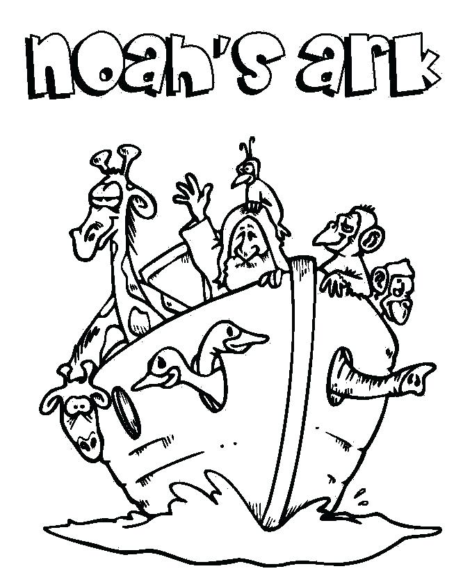 666x844 Noahs Ark Coloring Pages Ark Animals Two