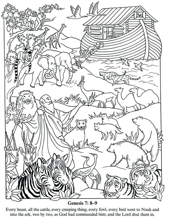 Noahs Ark Printable Coloring Pages at GetDrawings.com | Free for ...