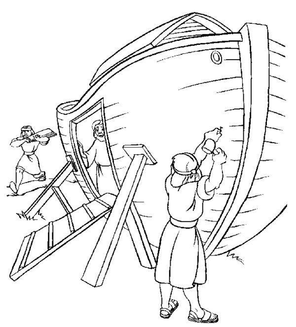 600x663 Printable Noah's Ark Coloring Noah's Ark Free