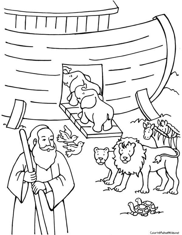 600x776 Free Noah's Ark Coloring Pages Noah's Ark Coloring Pages Noah