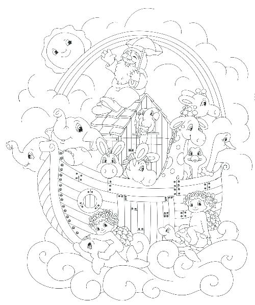 500x598 Noah And The Ark Coloring Pages