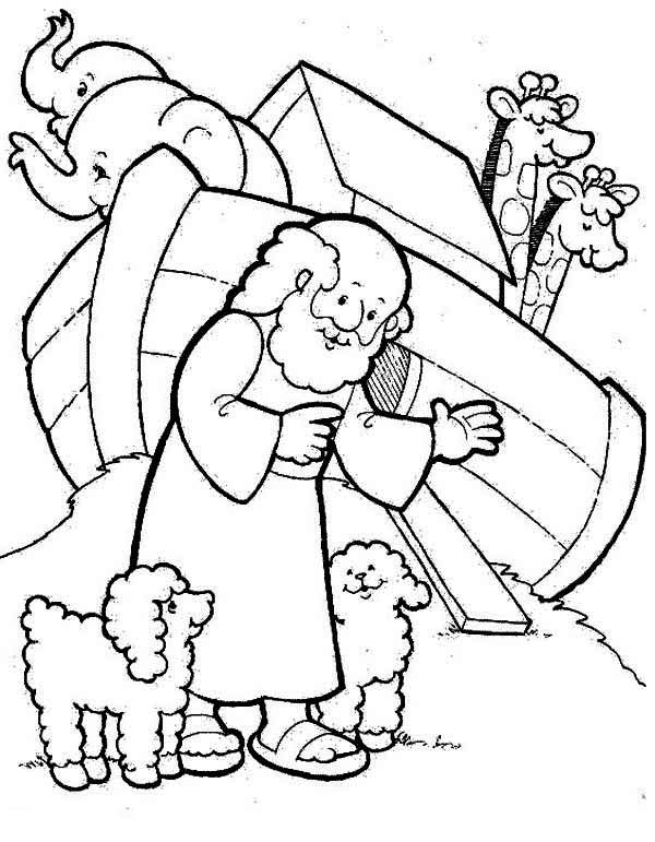 600x771 Chic Noah S Ark Printable Coloring Pages Free Two Cute Sheeps