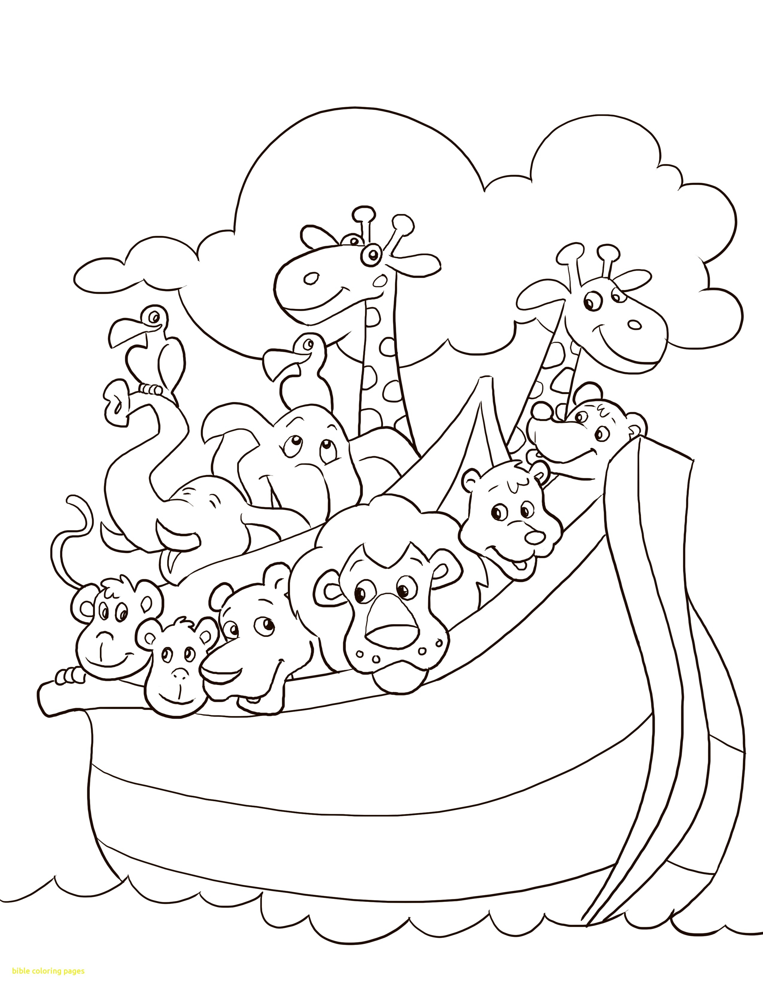 2550x3300 Cool Fortune Noah S Ark Printable Sunday School Bible Coloring