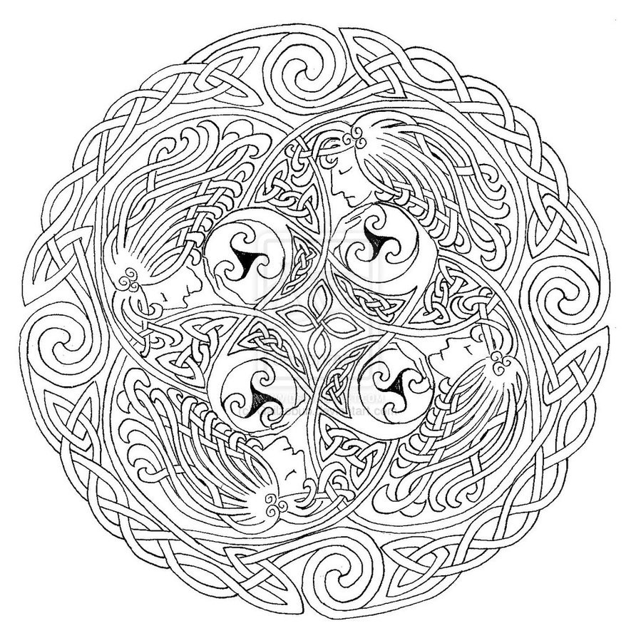 892x895 Drawing Norse Mythology Coloring Pages