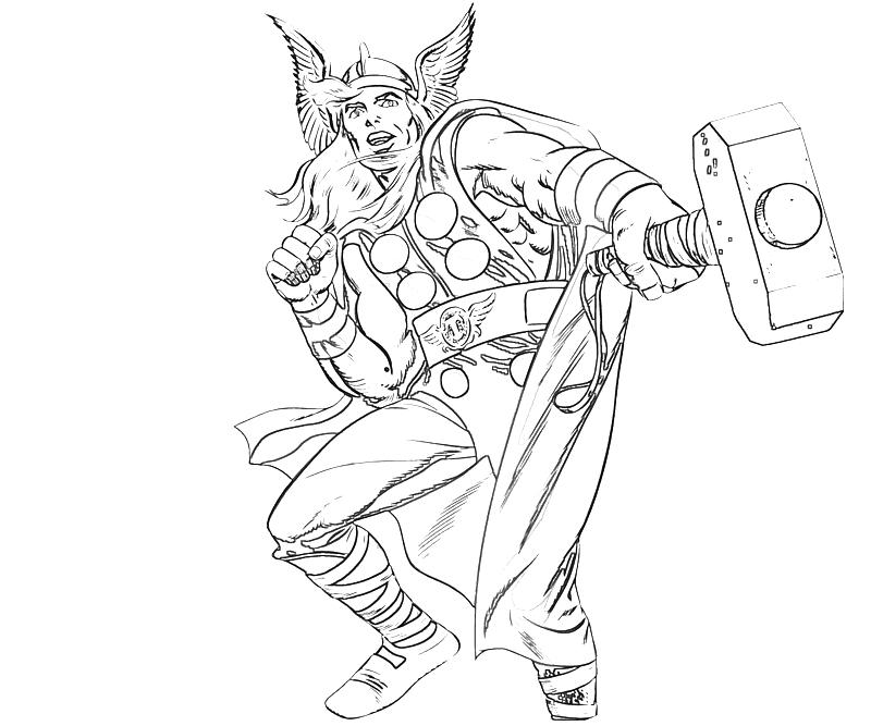 800x667 Free Printable Thor Coloring Pages For Kids Thor, Superhero