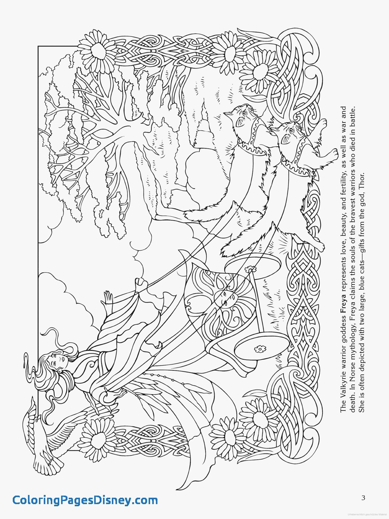 1280x1707 Norse Mythology Coloring Pages Unique Goddess Coloring Page Freya