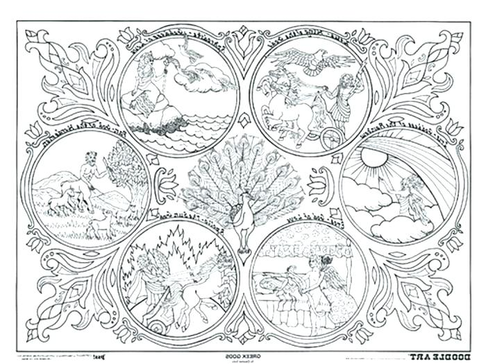 700x525 Mythology Coloring Pages