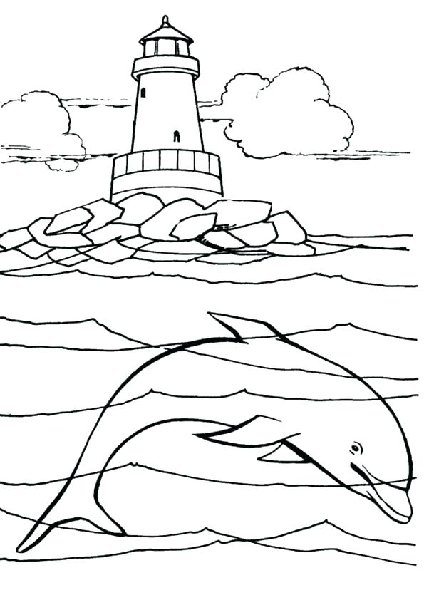 595x842 Lighthouse Coloring Pages Coloring Pages Under The Sea Lighthouse