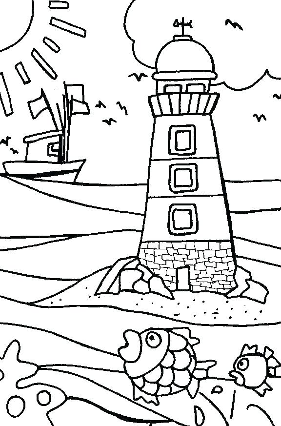 576x873 Lighthouse Coloring Pages Lighthouse Coloring Page Free North