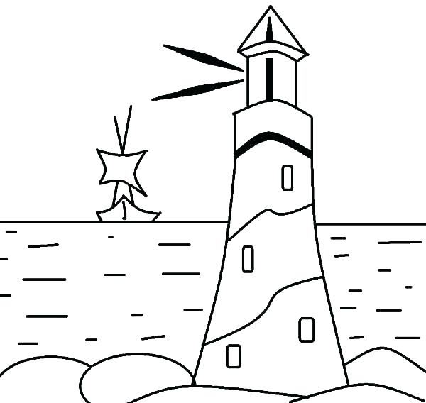 600x568 Lighthouse Coloring Pages Printable Lighthouse Coloring Pages