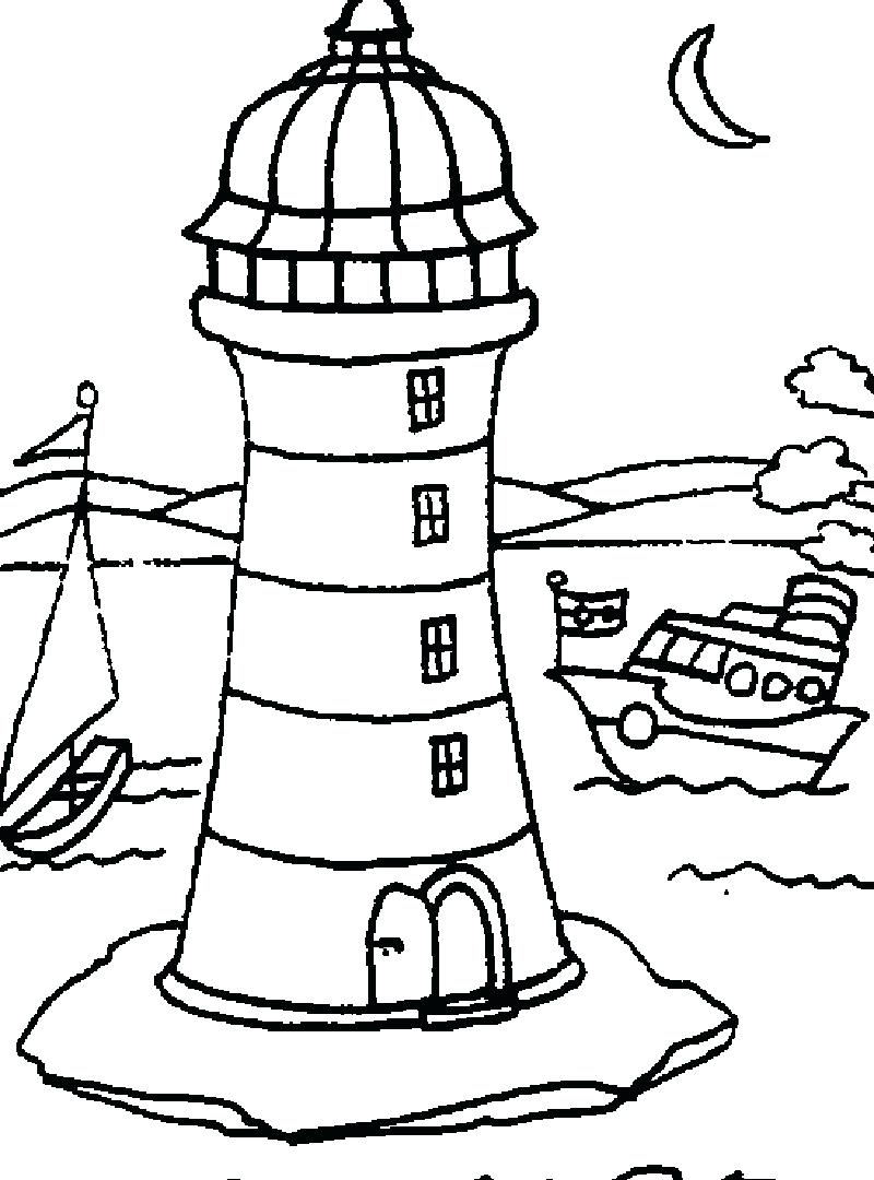 800x1080 Coloring Pages Lighthouse Coloring Pages Print For Preschoolers