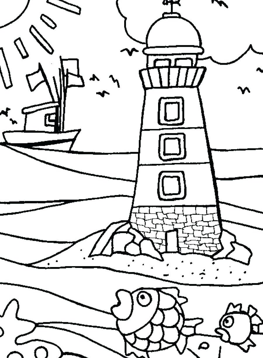 900x1224 Bodie Island Lighthouse North Carolina Coloring Page Pages Free