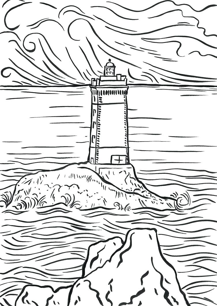 753x1062 Bodie Island Lighthouse North Carolina Coloring Page With Pages