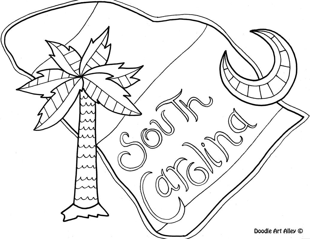 1035x799 South Carolina Coloring Pages Ebcs With Page