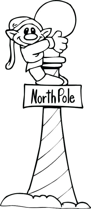 376x860 North Pole Coloring Pages Elf Up The North Pole Coloring Page