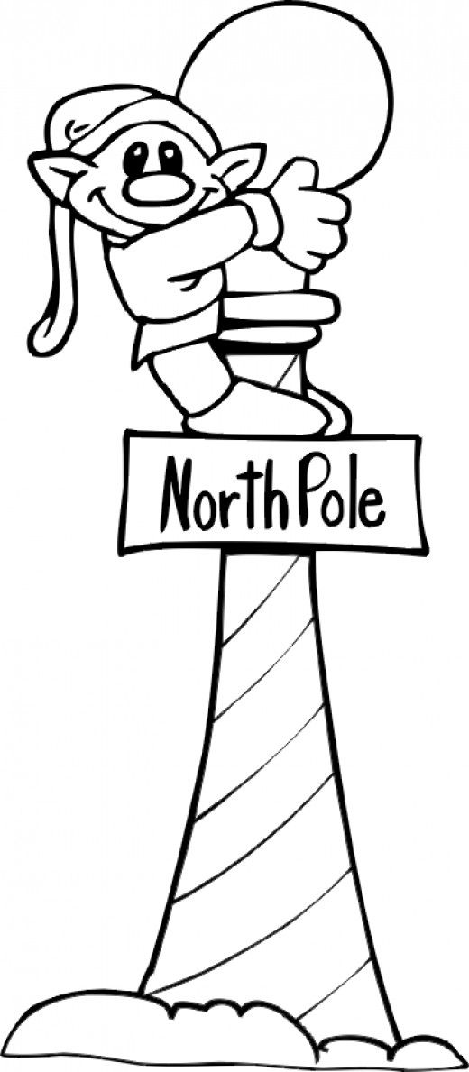 520x1189 North Pole Printables, Coloring Pages North Pole Sign, Pole Sign