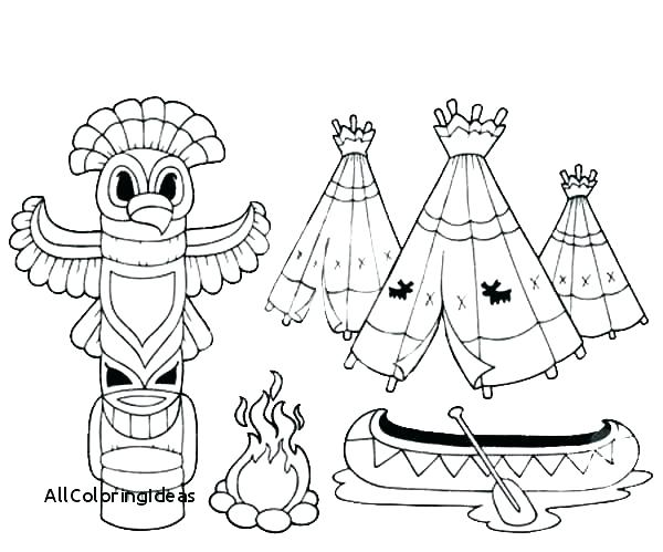 600x499 Totem Pole Coloring Pages North Pole Coloring Pages Totem Pole