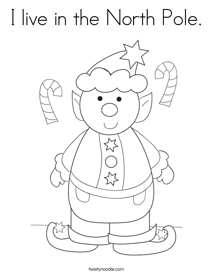 685x886 I Live In The North Pole Coloring Page