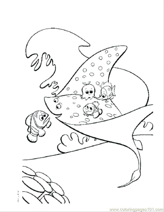 650x842 Nemo Fish Coloring Pages Coloring Page Finding Nemo Fish Tank
