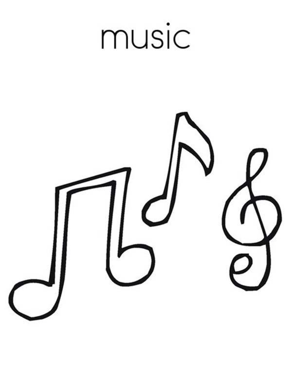 600x776 Treble Clef Is Music Note Coloring Page Color Luna