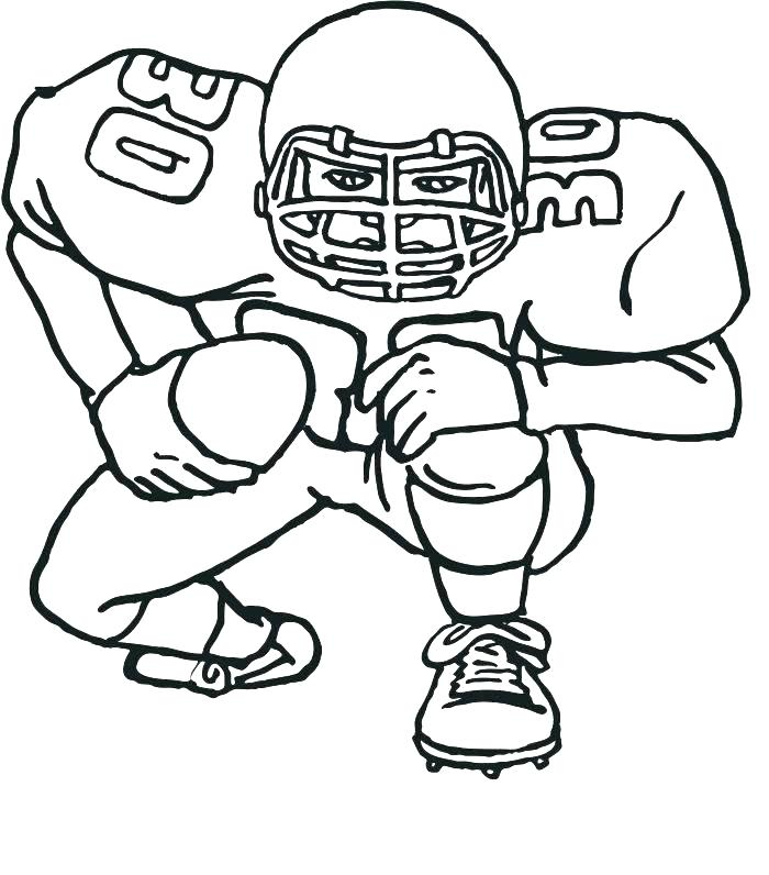 700x796 Football Coloring Book Coloring Pictures Of Football Players