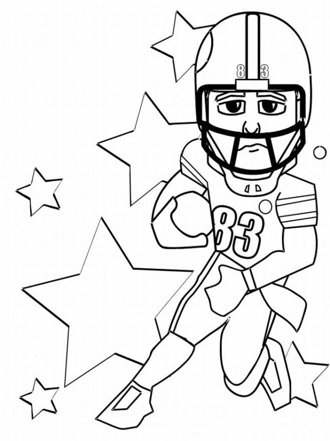 658x877 Football Coloring Pages