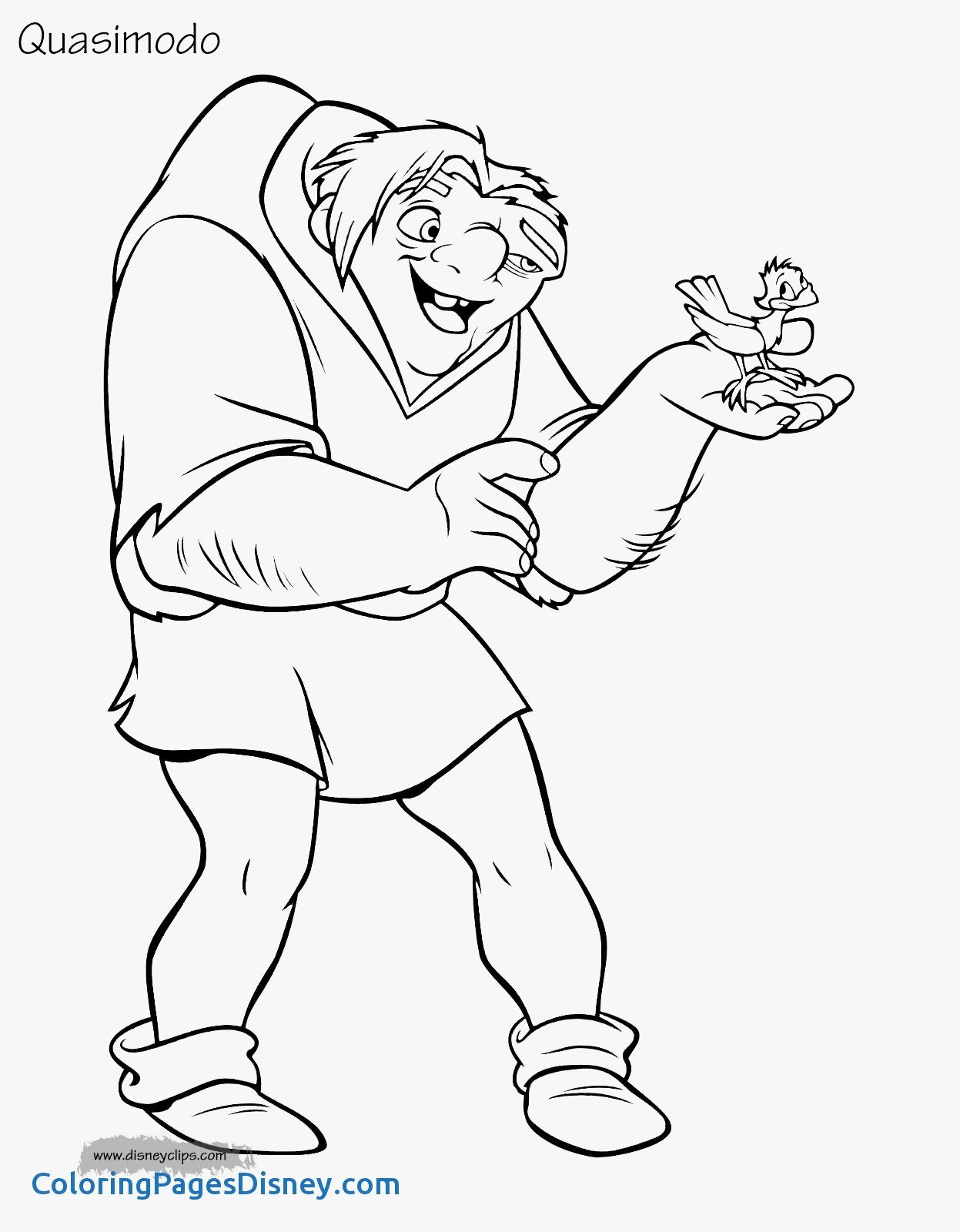 1247x1600 The Hunchback Notre Dame Coloring Pages Fresh The Hunchback