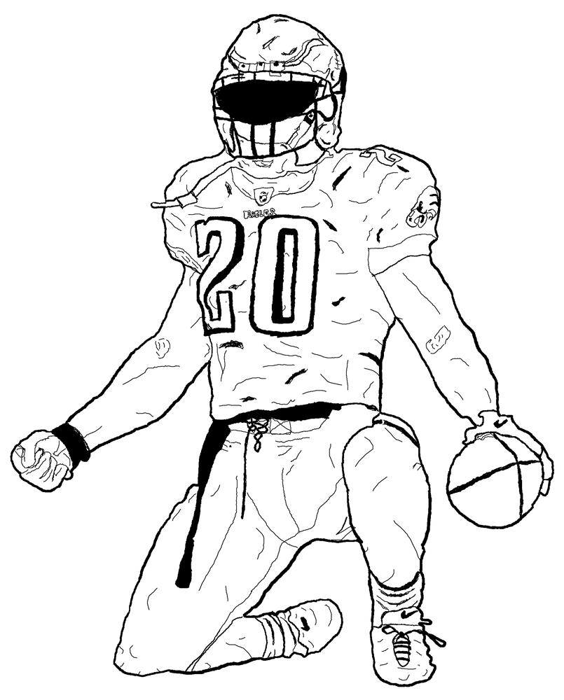 805x1000 Valuable Football Coloring Page Realistic Player Pages