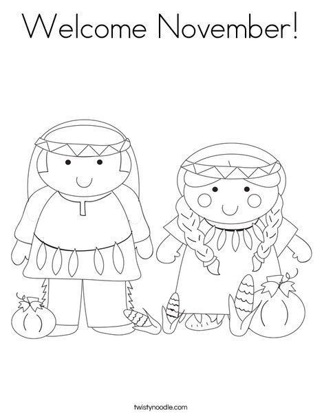468x605 Welcome November Coloring Page