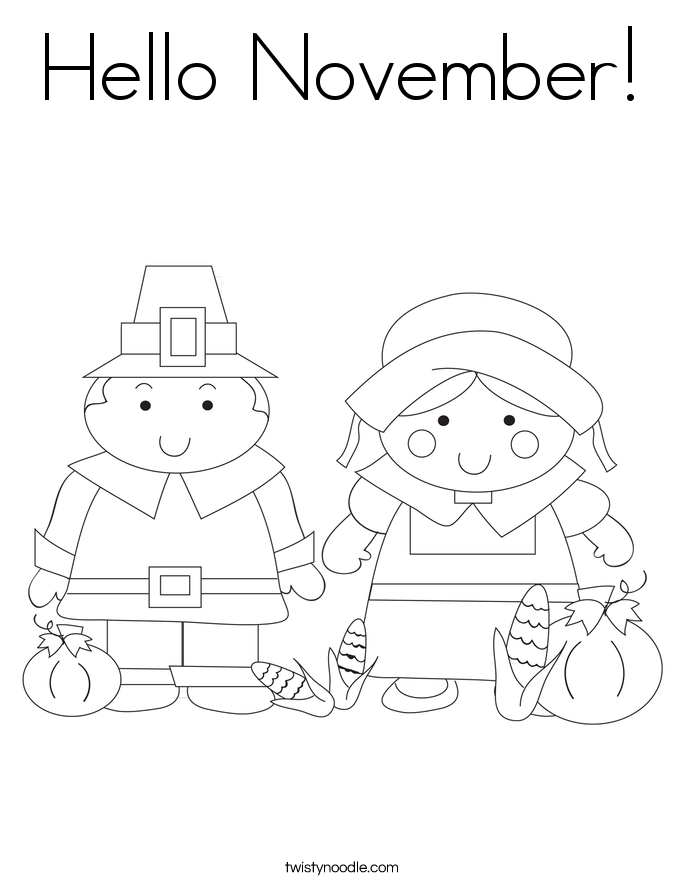 November Coloring Pages At Getdrawings Free Download