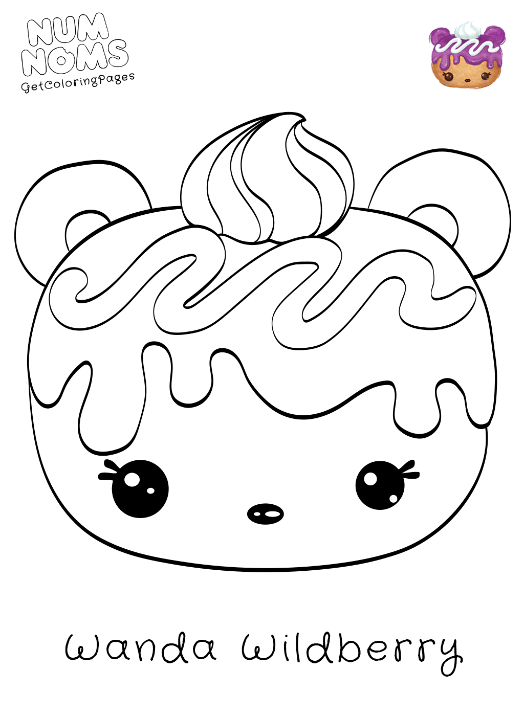 Num Noms Coloring Pages At Getdrawings Com Free For Personal Use