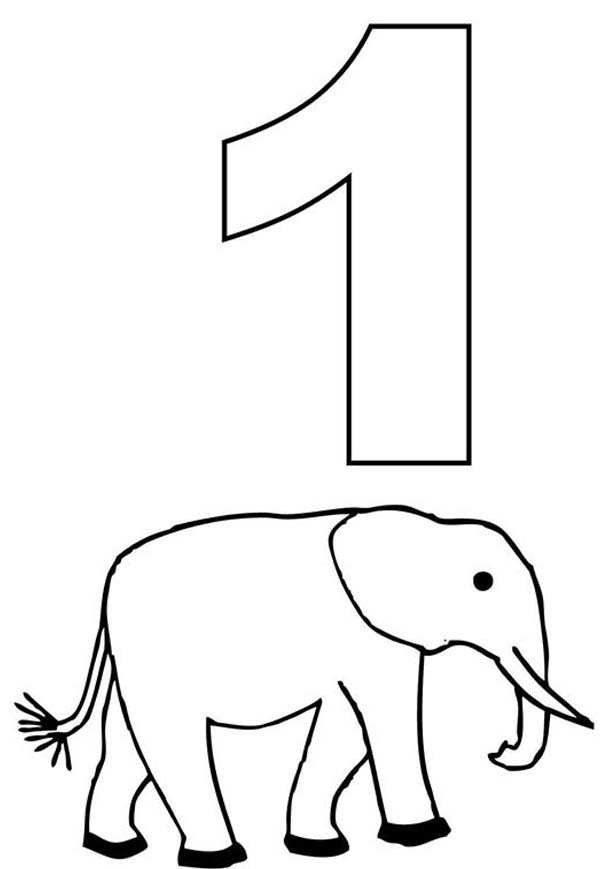 Number 1 Coloring Page At Getdrawings Free Download