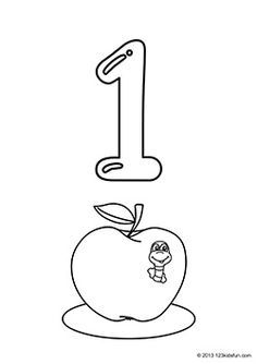 Number 1 Coloring Pages For Preschoolers at GetDrawings ...