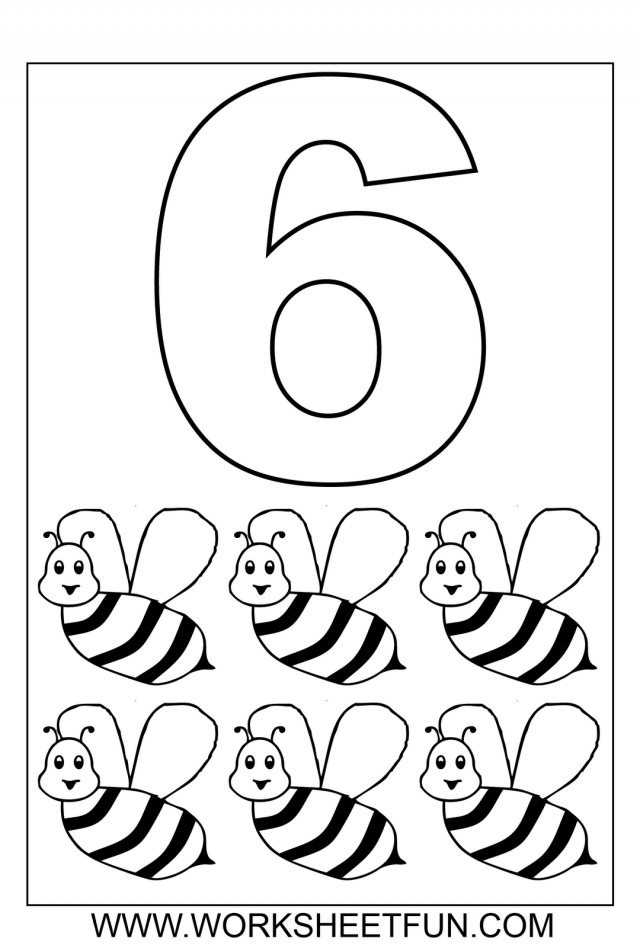 Number 1 Coloring Pages Preschoolers at GetDrawings.com | Free for ...