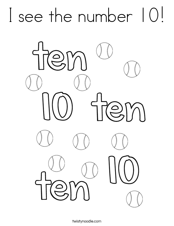 Number 10 Coloring Page At Getdrawings Com Free For