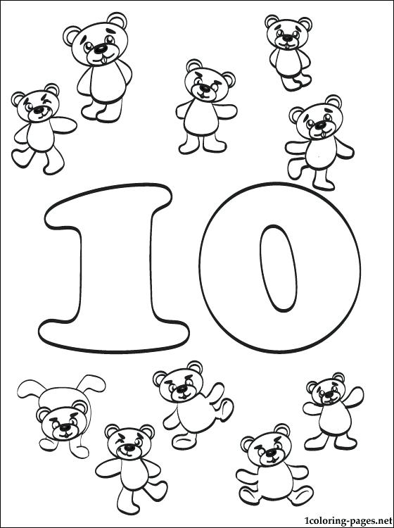 560x750 Number Coloring Pages Number Ten Coloring Page Free Number