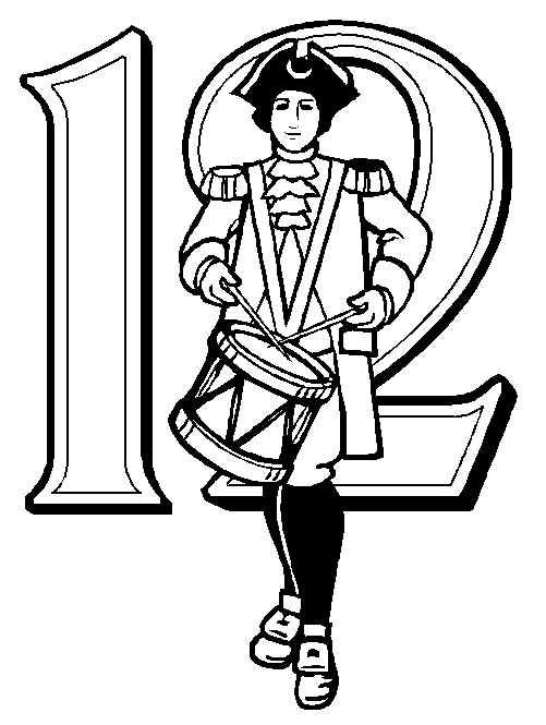 Number 12 Coloring Page