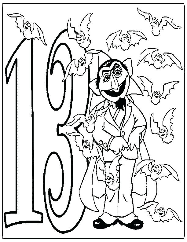 Number 13 Coloring Page At Getdrawings Com Free For Personal Use