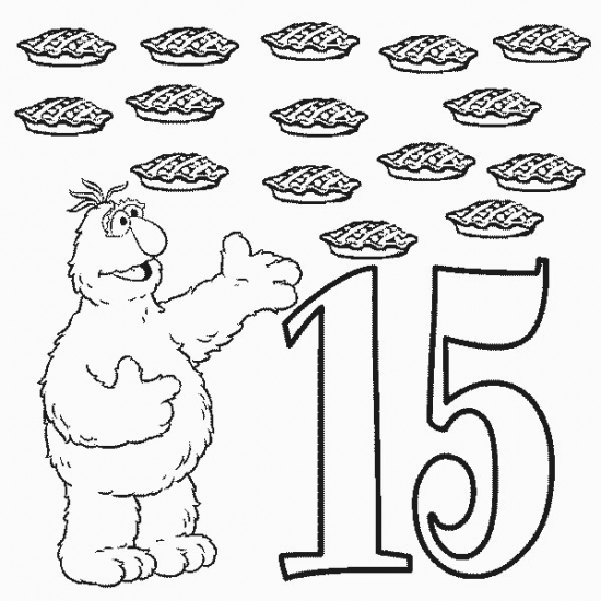 550x550 Number Coloring Page