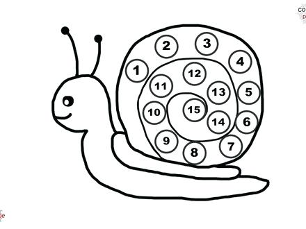 440x330 Number Coloring Page Snail Coloring Page Learning Numbers