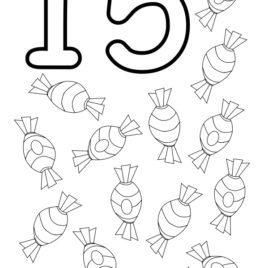 268x268 Coloring Page Of Number Archives