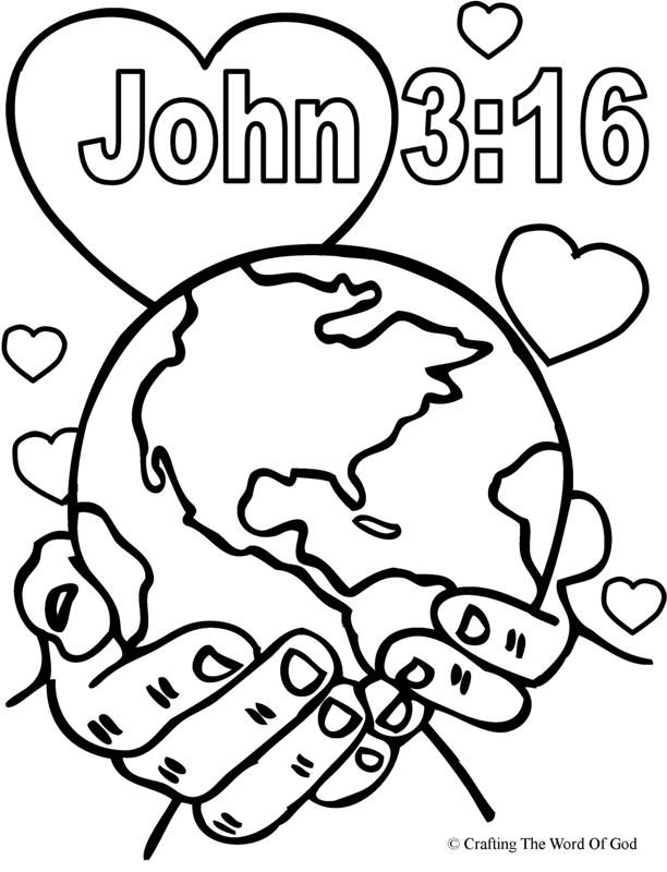 612x800 God So Loved The World Coloring Page Crafting The Word Of God