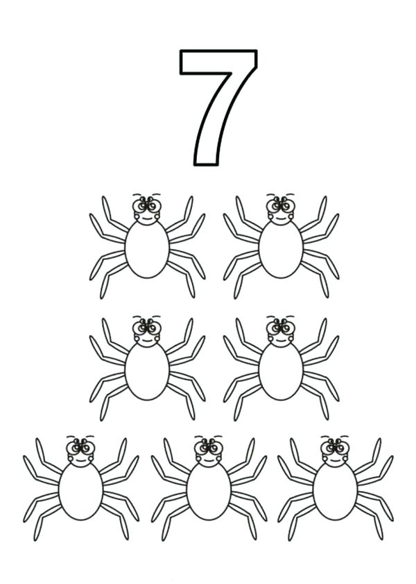 600x842 Number Coloring Page Number Coloring Pages Preschool As Number