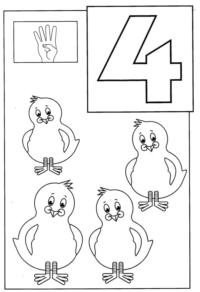 658x960 Number Coloring Page Educational Number Four Coloring Pages Free