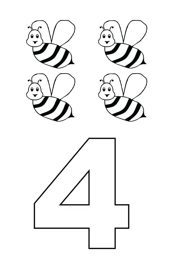 600x887 Number Coloring Page Numbers Coloring Pages Preschool Number