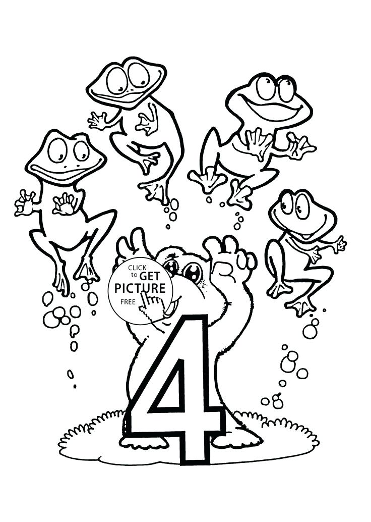 736x1034 Number Says Four Coloring Page Free Printable Coloring Pages