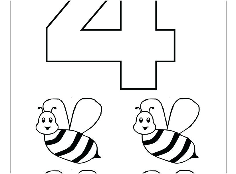 827x609 Numbered Coloring Pages Free Printable Color