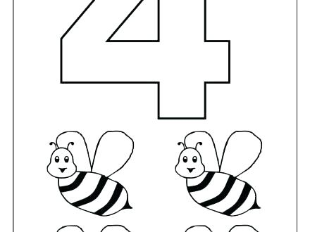 440x330 Numbers Coloring Page Coloring Numbers Coloring Pages To Print