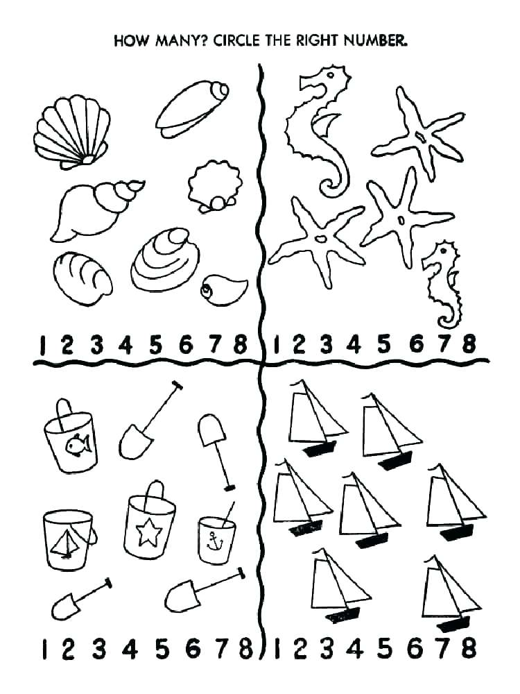 750x1000 Number Coloring Page