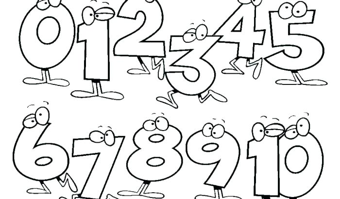 700x410 Free Preschool Coloring Pages Numbers Of Page Number